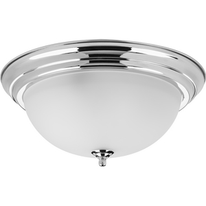 "Three-Light Dome Glass 15-1/4"" Close-to-Ceiling"