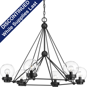 Spatial Collection Six-Light Chandelier