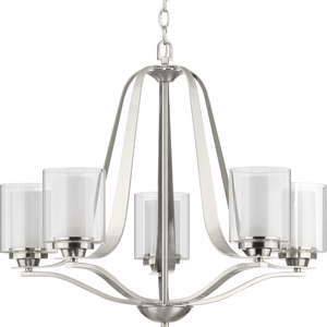 Kene Collection Brushed Nickel Five-Light Chandelier