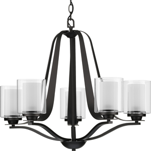Kene Collection Graphite Five-Light Chandelier