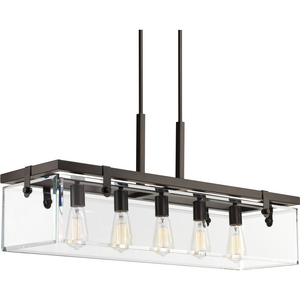 Glayse Five-Light Linear Chandelier