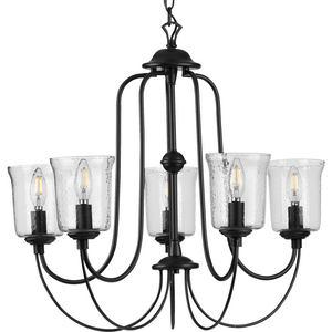 Bowman Collection Black Five-Light Chandelier