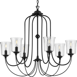 Bowman Collection Six-Light Black Chandelier