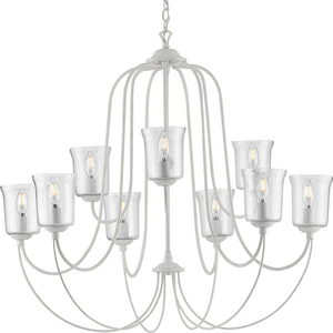 Bowman Collection Cottage White Nine-Light Chandelier