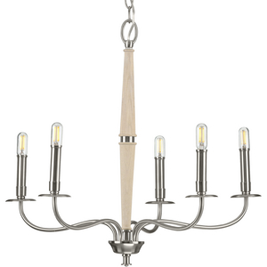 Durrell Collection Five-Light Brushed Nickel Chandelier