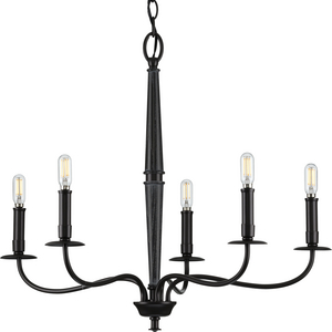 Durrell Collection Five-Light Black Chandelier