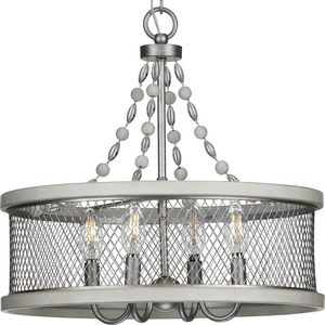 Austelle Collection Four-Light Galvanized Chandelier