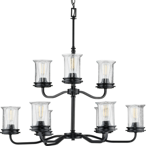 Winslett Collection Black Nine-Light Chandelier