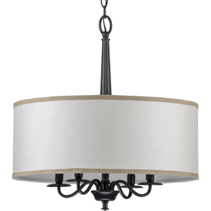 Durrell Collection Four-Light Black Chandelier