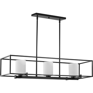 Chadwick Three-Light Matte Black Island Chandelier