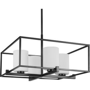 Chadwick Collection Four-Light Black Chandelier