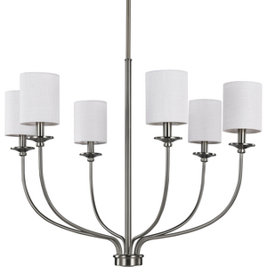Bonita Collection Six-Light Brushed Nickel Foyer Chandelier
