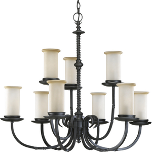 Santiago Collection Nine-Light, Two-Tier Chandelier