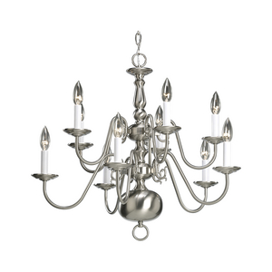 Americana Collection Ten-Light, Two-Tier Chandelier