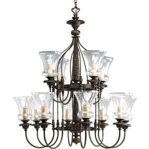 Fiorentino Twelve-Light, Three-Tier Chandelier