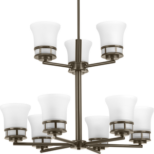Cascadia Collection Nine-Light, Two-Tier Chandelier