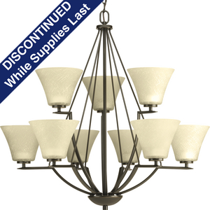 Bravo Collection Nine-Light, Two-Tier Chandelier