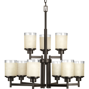 Alexa Collection Nine-Light, Two-Tier Chandelier