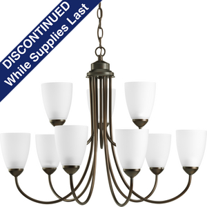 Gather Collection Nine-Light, Two-Tier Chandelier