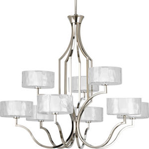 Caress Collection Nine-Light, Two-Tier Chandelier