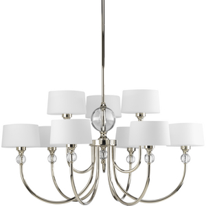 Fortune Collection Nine-Light, Two-Tier Chandelier