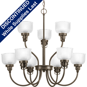Archie Collection Nine-Light, Two-Tier Chandelier
