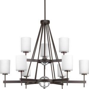 Compass Collection Nine-Light, Two-Tier Chandelier