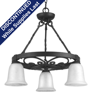 Enclave Collection Three-Light Chandelier