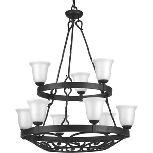 Enclave Collection Nine-Light, Two-Tier Chandelier