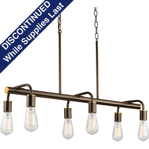 Swing Collection Six-Light Linear Chandelier