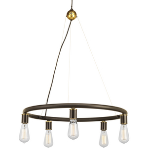 Swing Collection Five-Light Chandelier