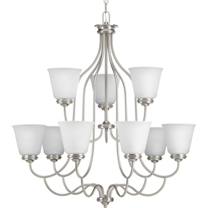 Keats Collection Nine-Light, Two-Tier Chandelier