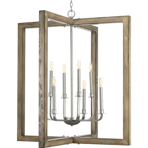 Turnbury Collection Eight-light chandelier