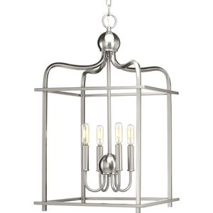 Assembly Hall Collection Four-Light Foyer Pendant