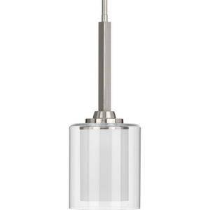 Kene Collection Brushed Nickel One-Light Mini-Pendant