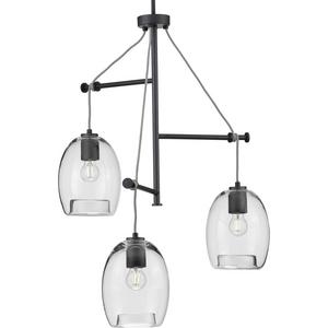 Caisson Collection Graphite Three-Light Pendant