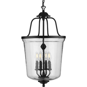 Bowman Collection Four-Light Black Foyer Pendant