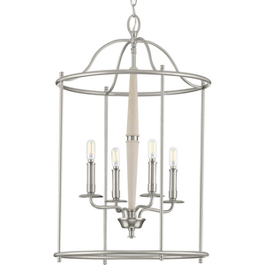 Durrell Collection Four-Light Brushed Nickel Medium Foyer