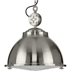 Medal Collection Brushed Nickel One-Light Pendant