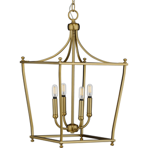 Parkhurst Collection Brushed Bronze Four-Light Foyer