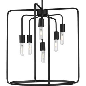 Bonn Collection Six-Light Black Pendant