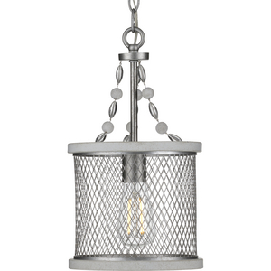Austelle Collection One-Light Galvanized Mini-Pendant