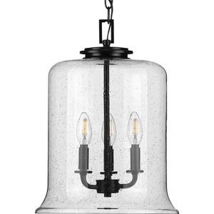 Winslett Collection Black Three-Light Pendant