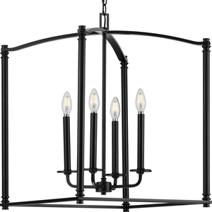 Winslett Collection Black Four-Light Foyer