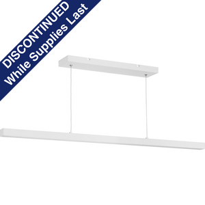 Planck LED Collection Satin White One-Light LED Pendant