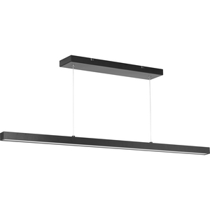 Planck LED Collection Black One-Light LED Pendant