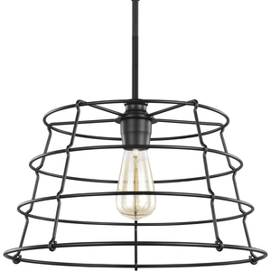 Chambers Collection Black One-Light Pendant