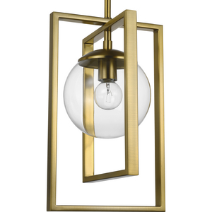 Atwell Collection Brushed Bronze One-Light Pendant
