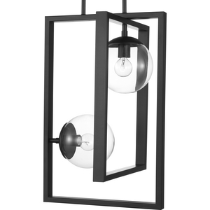 Atwell Collection Black Two-Light Pendant