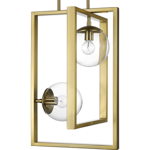 Atwell Collection Brushed Bronze Two-Light Pendant